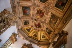 Historic Centre of Porto - Historic Centre of Porto: The coffered ceiling of the Chapter House of Porto Cathedral was painted by the Italian artist Giovanni...