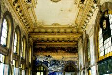 Historic Centre of Porto - Historic Centre of Porto: The São Bento Railway Station is decorated with azulejos. The most notable aspect of São Bento are the...