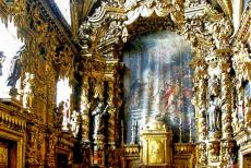 Historic Centre of Porto - Historic Centre of Porto: The gold plated interior of the Santa Clara Church. The small church is considered a masterpiece of the Baroque and...