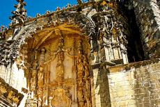 Convent of Christ in Tomar - The main portal of the Convent of Christ in Tomar is decorated in the Manueline style. The convent represent five centuries of...