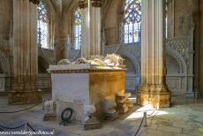 Monastery of Batalha - Monastery of Batalha: The Founder's Chapel contains the marble tombs of King João I and his wife Queen Philippa of Lancaster,...